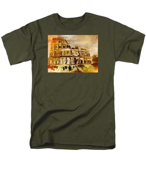 Men's T-Shirt  (Regular Fit) featuring the painting Crazy Colosseum by Denise Tomasura