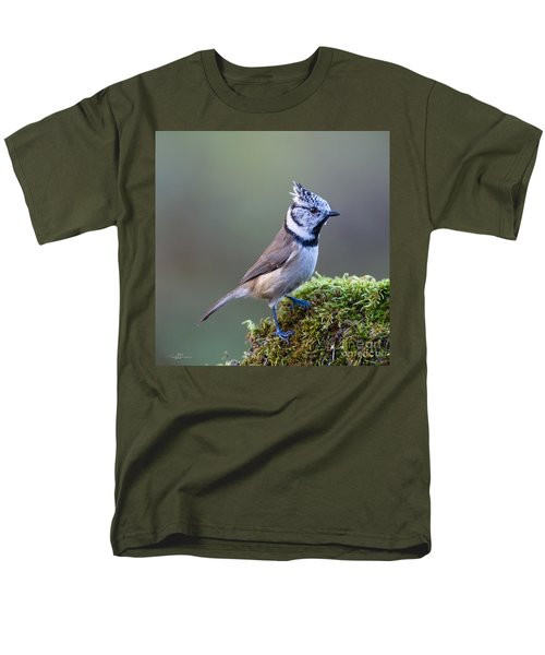 Crested Tit Men's T-Shirt  (Regular Fit) by Torbjorn Swenelius