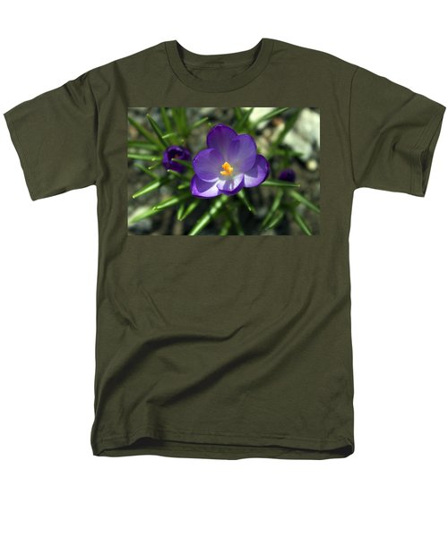 Men's T-Shirt  (Regular Fit) featuring the photograph Crocus In Bloom #1 by Jeff Severson