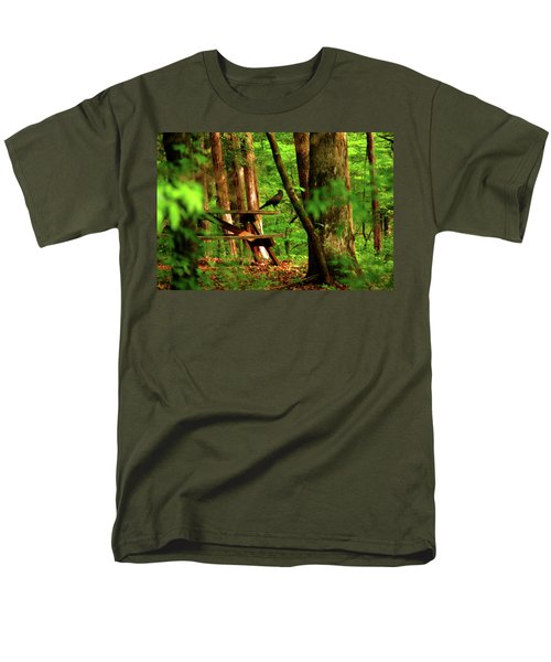 Men's T-Shirt  (Regular Fit) featuring the photograph Crow On A Table by Andy Lawless