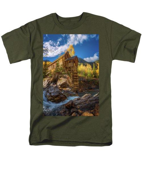 Crystal Mill Morning Men's T-Shirt  (Regular Fit) by Darren White
