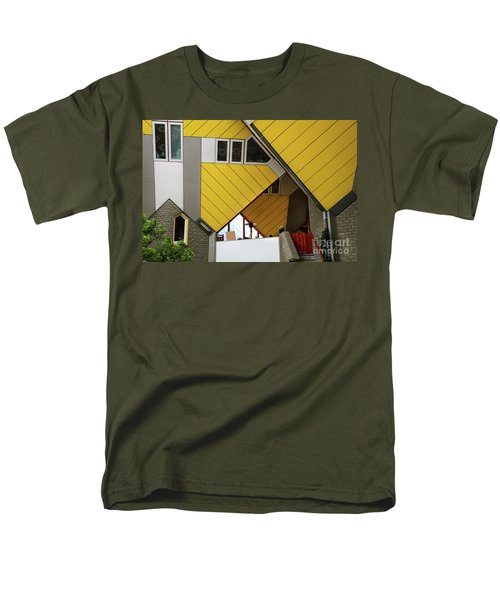 Men's T-Shirt  (Regular Fit) featuring the photograph Cube Houses Detail In Rotterdam by RicardMN Photography