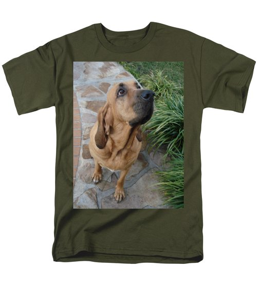 Cujo Looking At A Butterfly Men's T-Shirt  (Regular Fit) by Val Oconnor