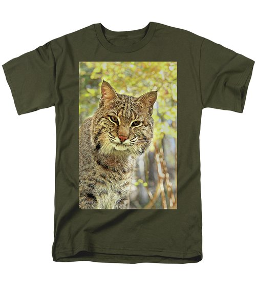 Men's T-Shirt  (Regular Fit) featuring the photograph Curiosity The Bobcat by Jessica Brawley