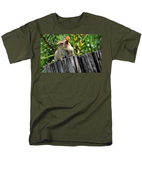 Curious Chipmunk Men's T-Shirt  (Regular Fit) by AJ Schibig