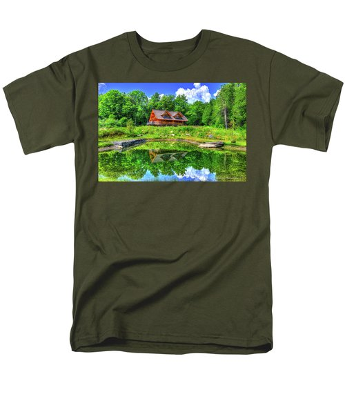 Men's T-Shirt  (Regular Fit) featuring the photograph Curtis Vance Memorial Apple Orchard by Jim Boardman