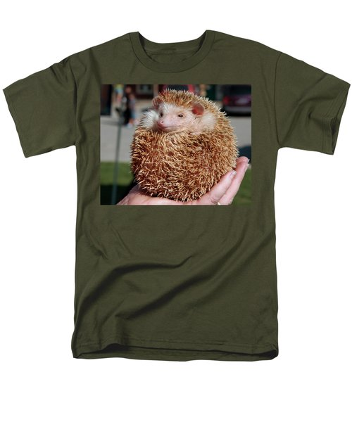 Cute Little Hedge Ball Men's T-Shirt  (Regular Fit) by LeeAnn McLaneGoetz McLaneGoetzStudioLLCcom