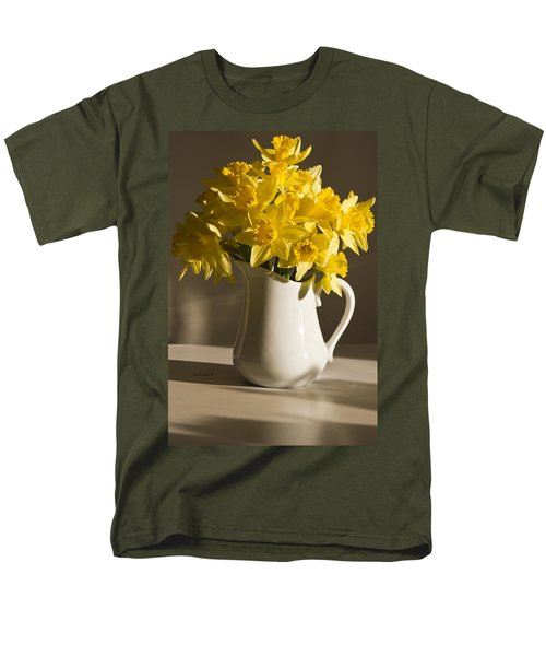 Daffodil Filled Jug Men's T-Shirt  (Regular Fit) by Sandra Foster