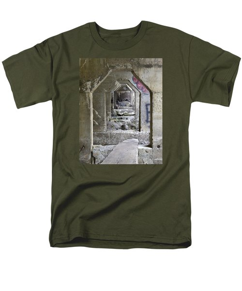 Men's T-Shirt  (Regular Fit) featuring the photograph Dam Above Garwin Falls, Wilton, Nh by Betty Denise