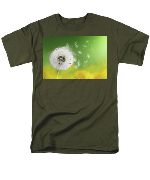 Men's T-Shirt  (Regular Fit) featuring the photograph Dandelion Clock In Morning by Bess Hamiti
