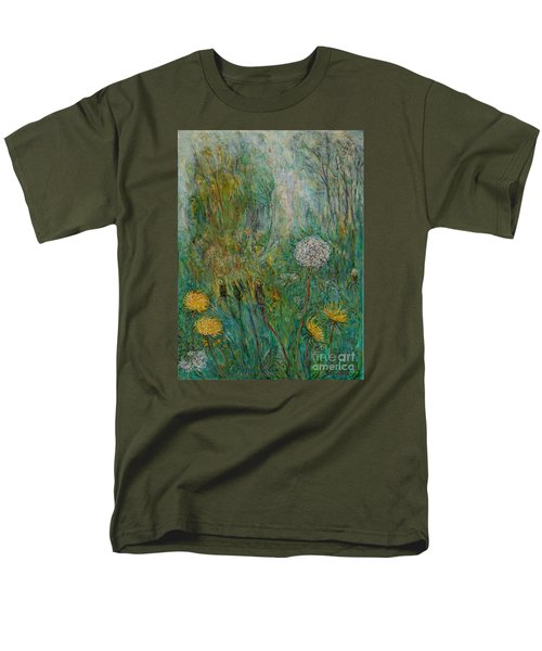 Dandelions Men's T-Shirt  (Regular Fit) by Anna Yurasovsky