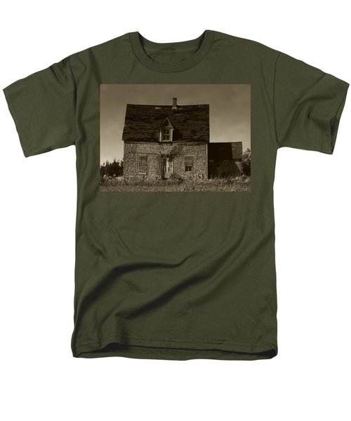 Men's T-Shirt  (Regular Fit) featuring the photograph Dark Day On Lonely Street by RC DeWinter