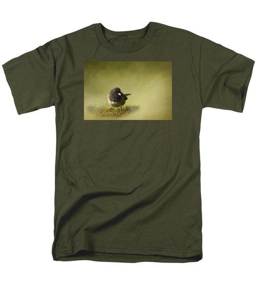 Men's T-Shirt  (Regular Fit) featuring the photograph Dark-eyed Junko by Inge Riis McDonald