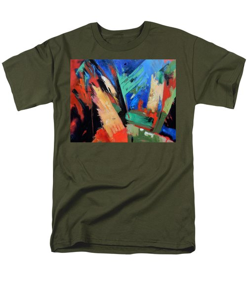 Men's T-Shirt  (Regular Fit) featuring the painting Darkness And Light by Gary Coleman