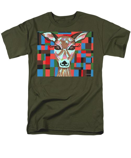Men's T-Shirt  (Regular Fit) featuring the painting Darling Deer by Kathleen Sartoris