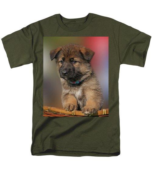 Men's T-Shirt  (Regular Fit) featuring the photograph Darling Puppy by Sandy Keeton
