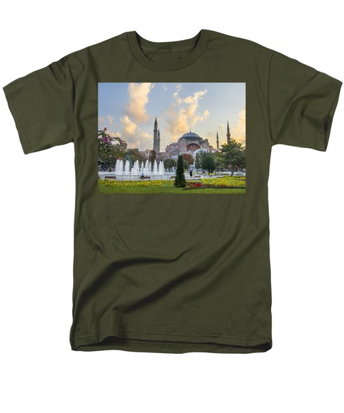 Men's T-Shirt  (Regular Fit) featuring the photograph Dawn Hagia Sophia Istanbul by Sally Ross