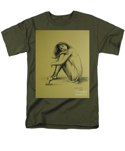 Men's T-Shirt  (Regular Fit) featuring the drawing Day Dreaming by Elena Oleniuc