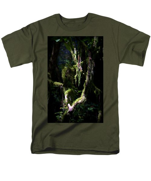 Men's T-Shirt  (Regular Fit) featuring the photograph Deep In The Forest by Lori Seaman