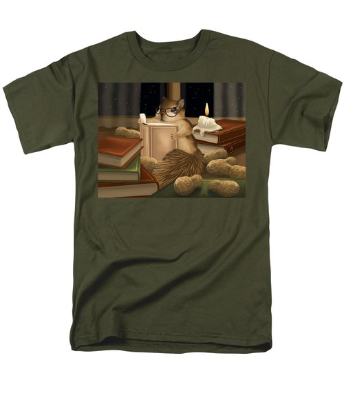 Men's T-Shirt  (Regular Fit) featuring the painting Deep Study by Veronica Minozzi