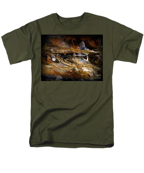 Men's T-Shirt  (Regular Fit) featuring the painting Deep Time by Nancy Kane Chapman