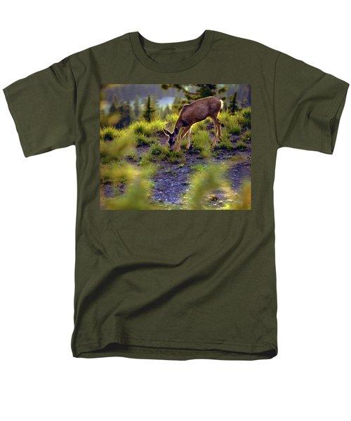 Deer At Crater Lake, Oregon Men's T-Shirt  (Regular Fit) by John A Rodriguez
