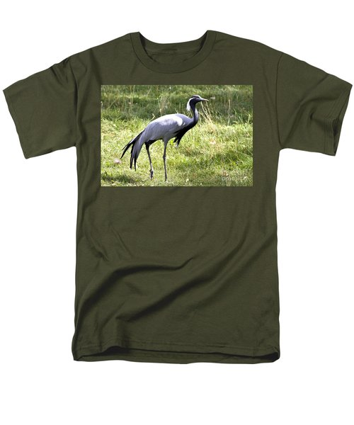 Demoiselle Crane Men's T-Shirt  (Regular Fit) by Teresa Zieba
