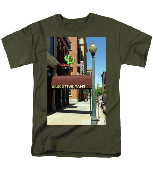 Men's T-Shirt  (Regular Fit) featuring the photograph Denver Downtown Storefront by Frank Romeo