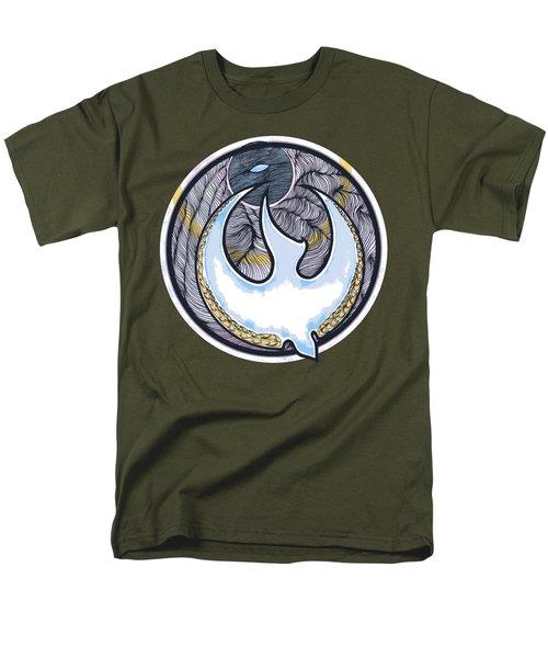 Descending Dove Men's T-Shirt  (Regular Fit) by Daniel P Cronin