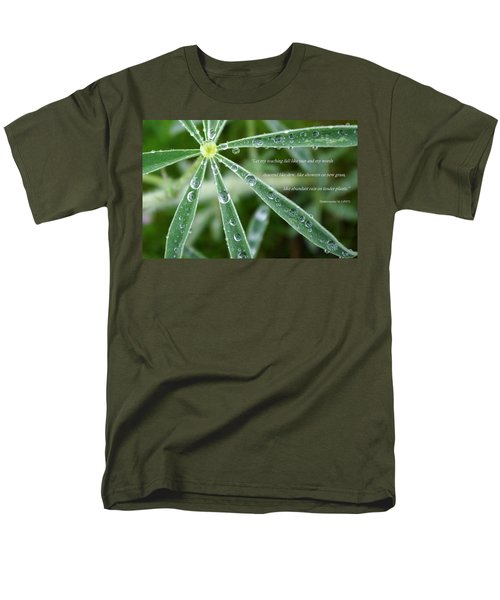 Descending Words Like Dew Men's T-Shirt  (Regular Fit)