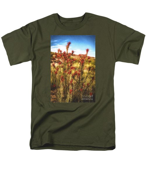 Desert Flora  ... Men's T-Shirt  (Regular Fit) by Chuck Caramella