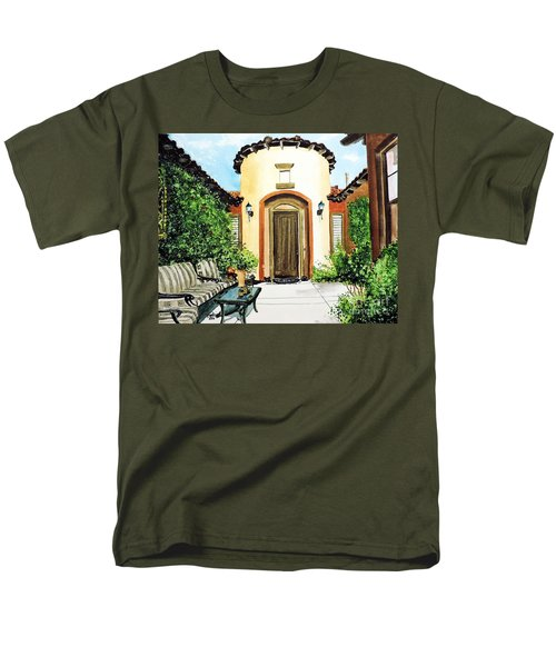 Men's T-Shirt  (Regular Fit) featuring the painting Desert Getaway by Tom Riggs