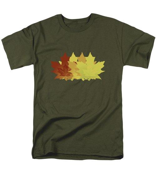 Diagonal Leaf Pattern Men's T-Shirt  (Regular Fit) by Methune Hively