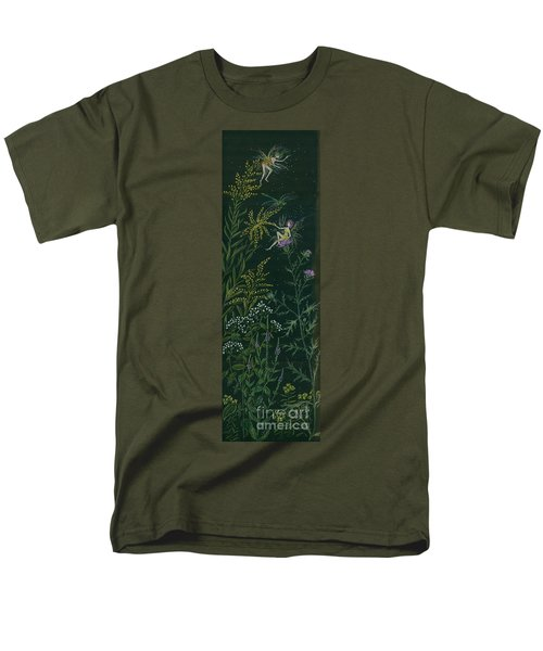Men's T-Shirt  (Regular Fit) featuring the drawing Ditchweed Fairies Goldenrod And Thistle by Dawn Fairies