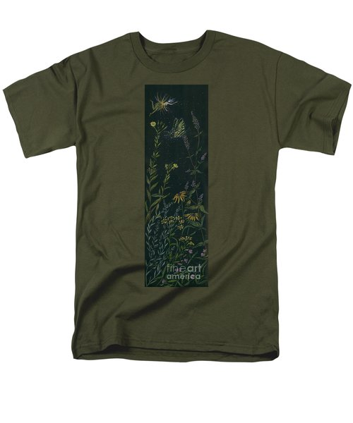 Men's T-Shirt  (Regular Fit) featuring the drawing Ditchweed Fairy Tiger Swallowtail by Dawn Fairies