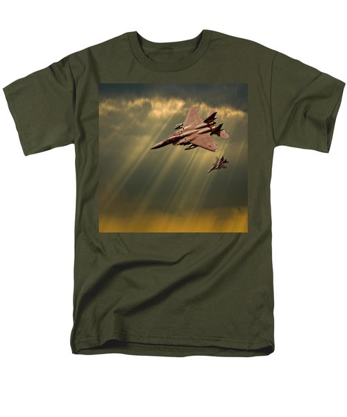 Men's T-Shirt  (Regular Fit) featuring the photograph Diving Eagles by Meirion Matthias