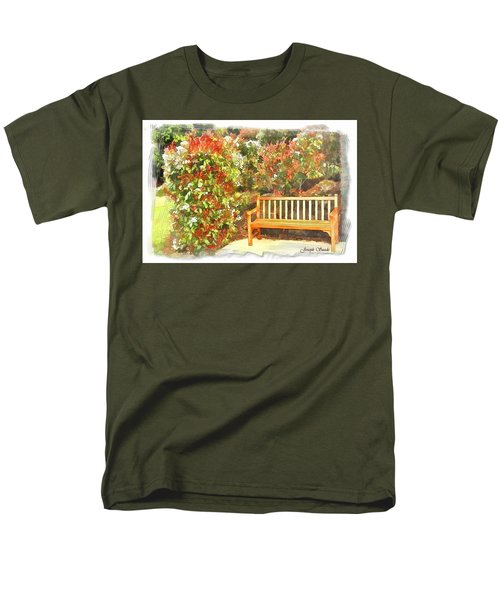 Men's T-Shirt  (Regular Fit) featuring the photograph Do-00122 Inviting Bench by Digital Oil