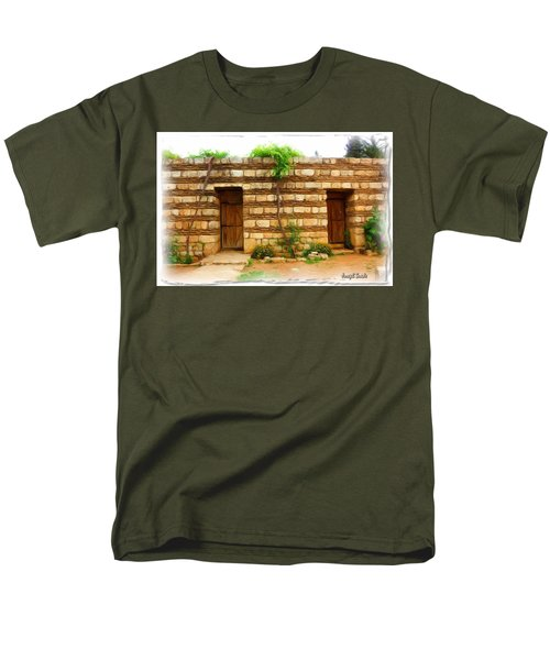 Men's T-Shirt  (Regular Fit) featuring the photograph Do-00305 Old Hutt In Anjar by Digital Oil