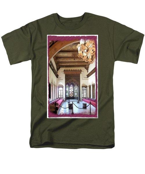 Do-00448 Reception Room At Beiteddine Men's T-Shirt  (Regular Fit) by Digital Oil