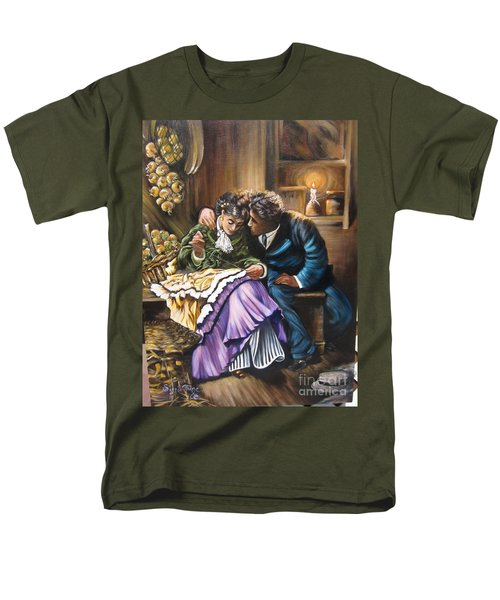 Men's T-Shirt  (Regular Fit) featuring the painting Do You Love Me? by Sigrid Tune