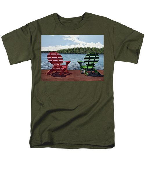 Dockside Men's T-Shirt  (Regular Fit) by Kenneth M  Kirsch