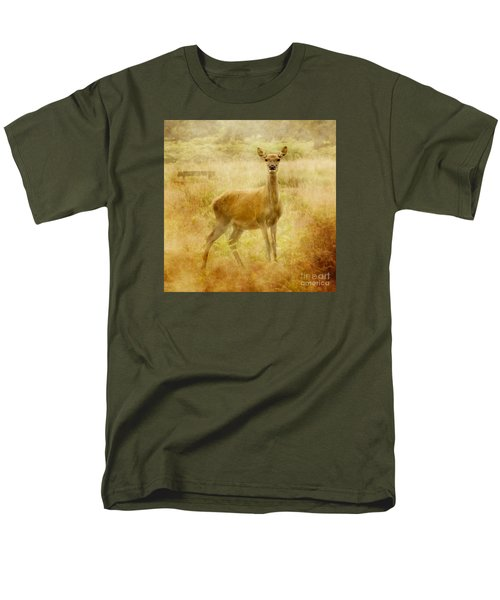 Men's T-Shirt  (Regular Fit) featuring the photograph Doe A Deer A Female Deer by Linsey Williams