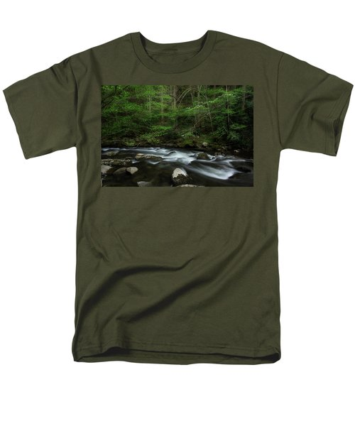 Men's T-Shirt  (Regular Fit) featuring the photograph Dogwood Along The River by Mike Eingle