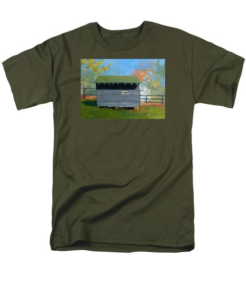 Dogwood Farm Shed Men's T-Shirt  (Regular Fit) by Catherine Twomey