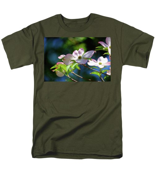Dogwood Flowers Men's T-Shirt  (Regular Fit) by Ronda Ryan