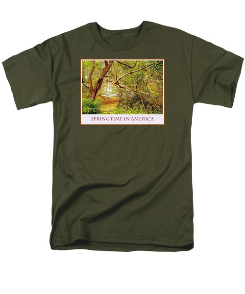 Men's T-Shirt  (Regular Fit) featuring the photograph Dogwood Tree In The Forest Spring by A Gurmankin