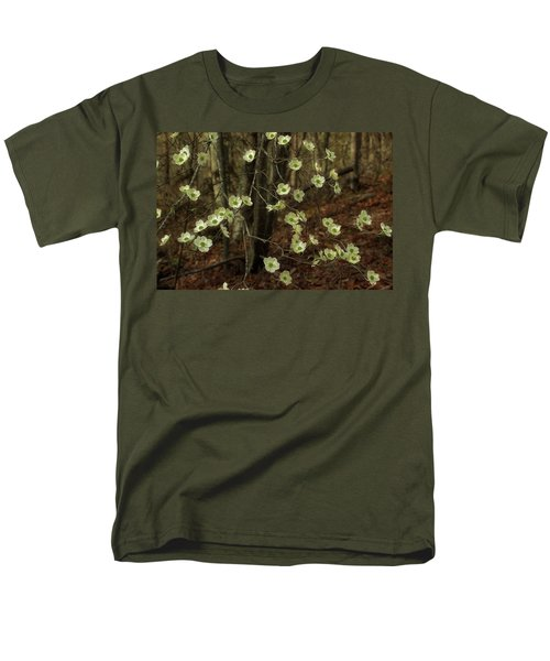 Men's T-Shirt  (Regular Fit) featuring the photograph Dogwoods In The Spring by Mike Eingle