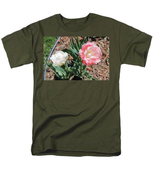 Double Tulip Men's T-Shirt  (Regular Fit)