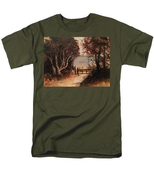 Down The Path Men's T-Shirt  (Regular Fit) by Sharon Schultz