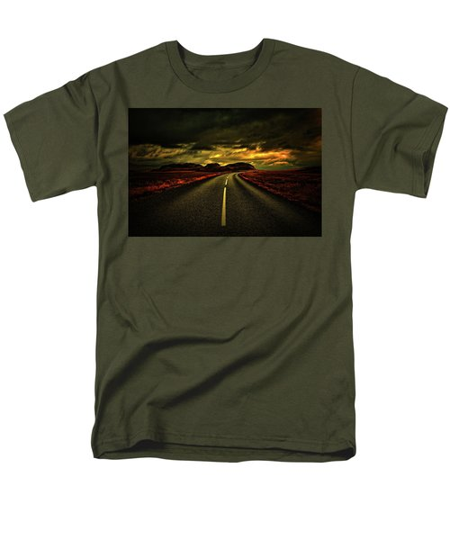 Men's T-Shirt  (Regular Fit) featuring the photograph Down The Road by Scott Mahon